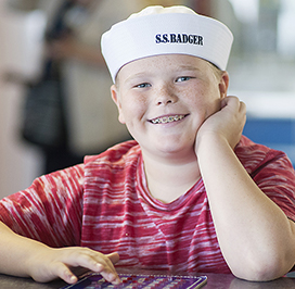 Kid with sailor cap