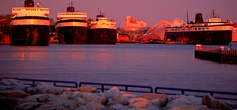 Four Car Ferries In Ludington